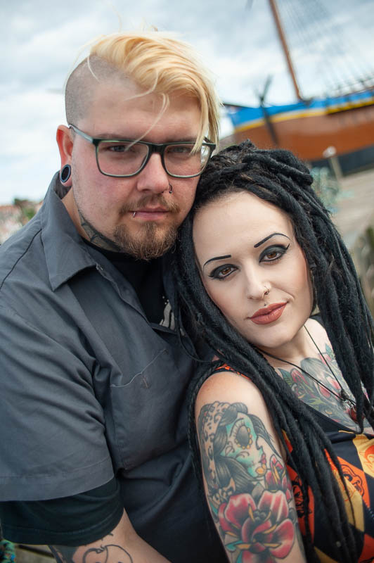 Husband and wife portrait in Whitby, North Yorkshire