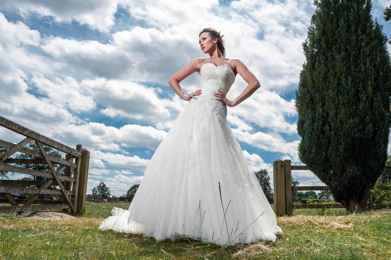 stylish bride photograph