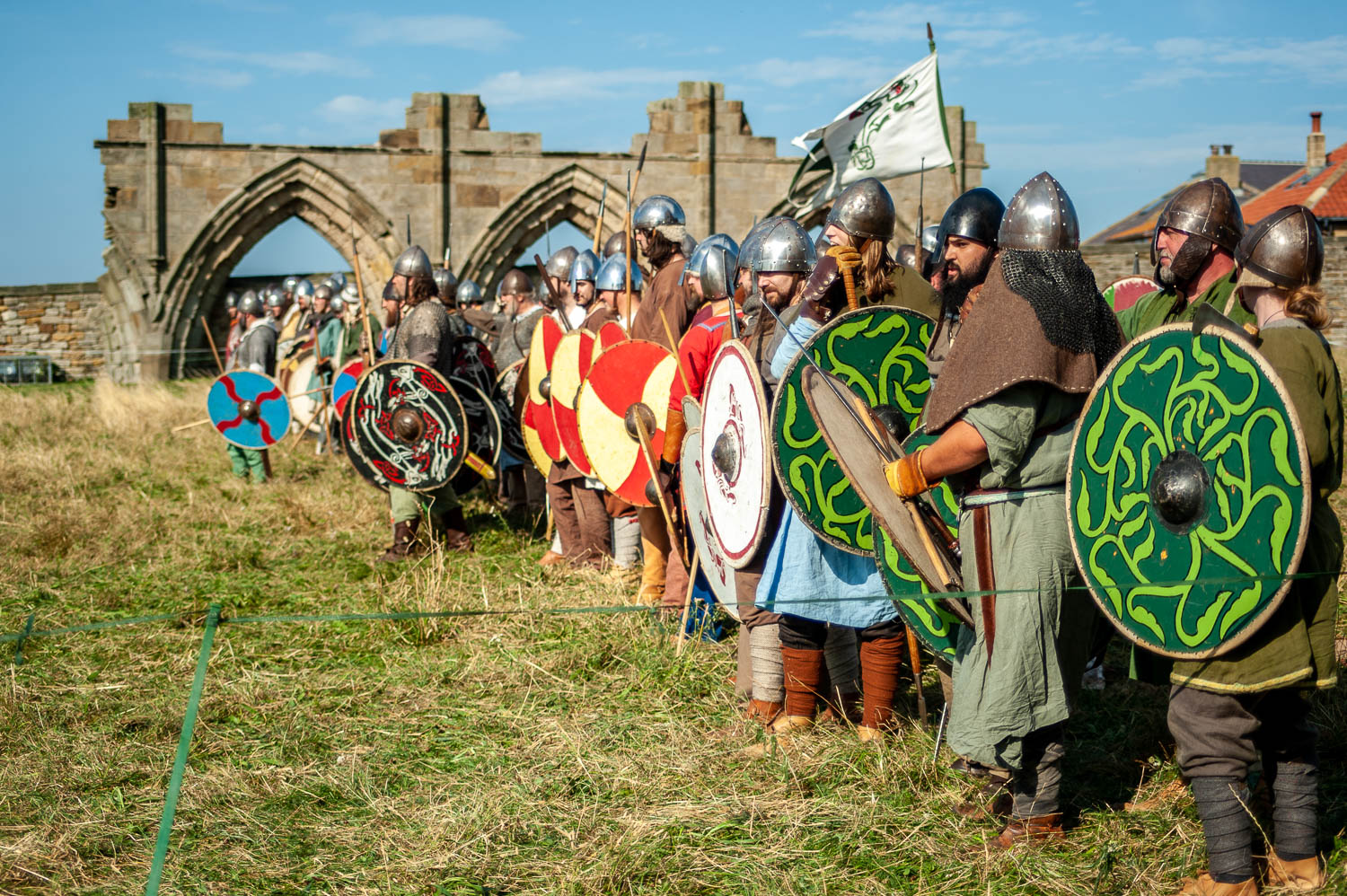 Vikings at Whitby Abbey, North Yorkshire