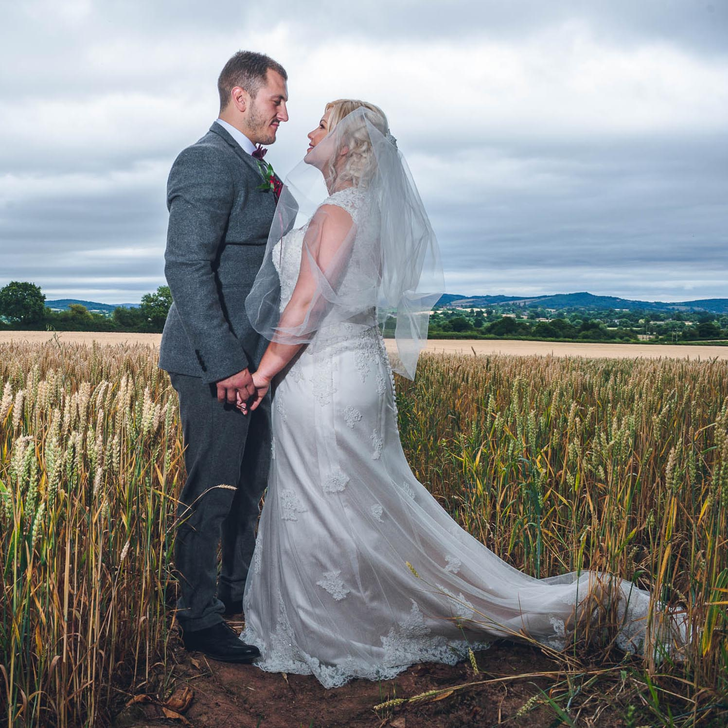 Wedding photography of bride and groom in North Yorkshire