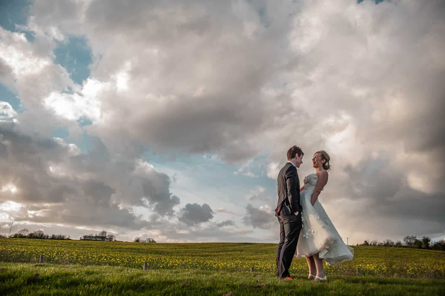 James and Laura's colourful Wedding - Hereford